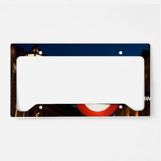 England, London. Underground  License Plate Holder