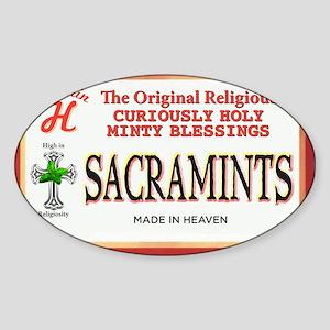 sacramints Sticker (Oval)