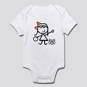 Girl & Bowling Infant Bodysuit