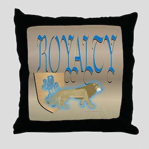 Royal Lion Throw Pillow