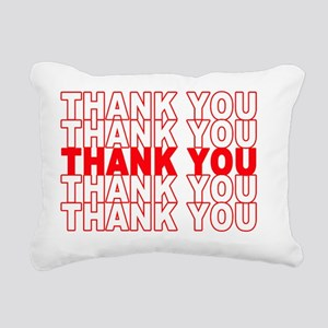 Thank You Rectangular Canvas Pillow
