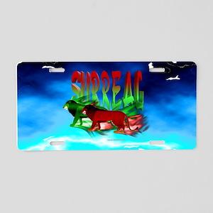Surreal Lions Aluminum License Plate