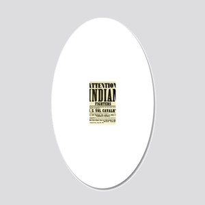 indianfighters 20x12 Oval Wall Decal