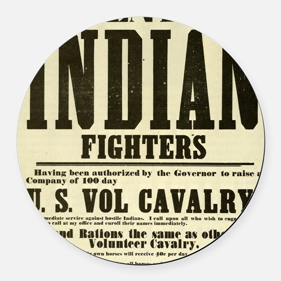 indianfighters Round Car Magnet