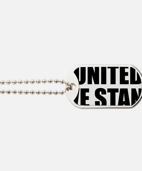united we stand button Dog Tags