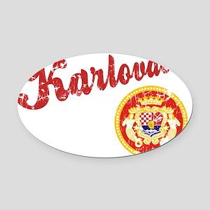 karlovacko-shirt Oval Car Magnet