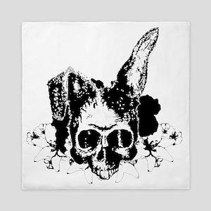 bunny skull 2 Queen Duvet
