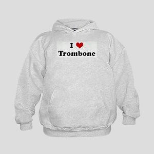 I Love Trombone Kids Hoodie