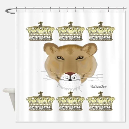 Queen Lioness Shower Curtain
