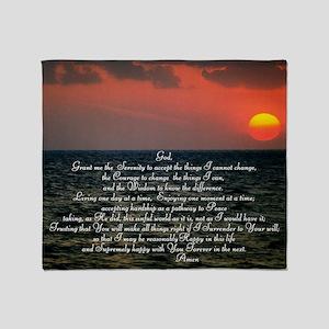 sunrise serenity Throw Blanket