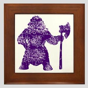 purple clear Framed Tile