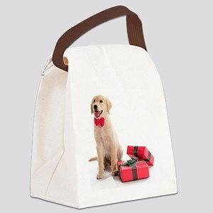Kozzi-Bow-Tie-Present-Puppy-6610x Canvas Lunch Bag