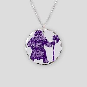 viking white Necklace Circle Charm