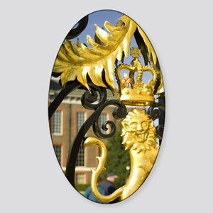 London. Kensington Palace. Gilded d Sticker (Oval)
