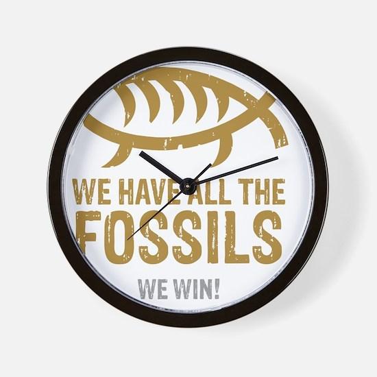 FossilsNew Wall Clock