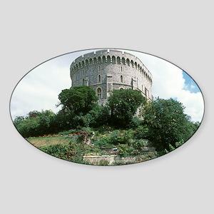 Windsor Castle, Windsor. Round Towe Sticker (Oval)