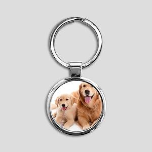 Kozzi-Dog-Buddies-7240x5433 Round Keychain