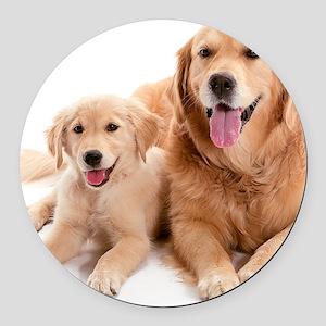 Kozzi-Dog-Buddies-7240x5433 Round Car Magnet