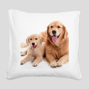 Kozzi-Dog-Buddies-7240x5433 Square Canvas Pillow