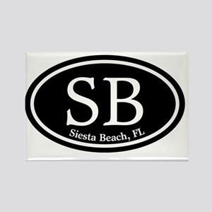 Siesta Beach.SB.MattAntique.black Rectangle Magnet