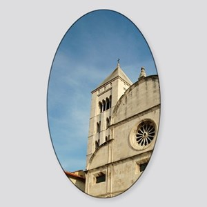 Croatia, Zadar, St. Mary's church Sticker (Oval)