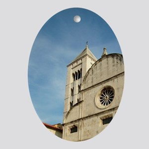 Croatia, Zadar, St. Mary's church Oval Ornament