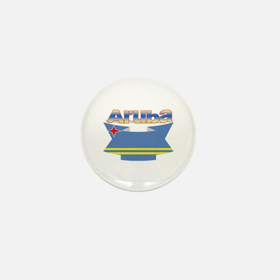 Aruba's flag ribbon Mini Button