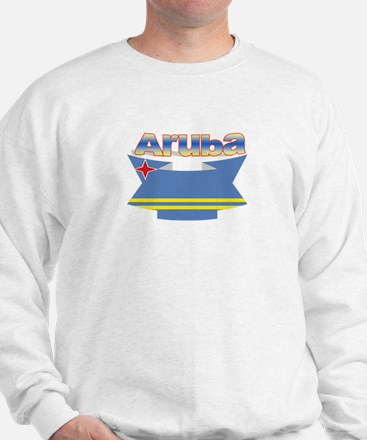 Aruba's flag ribbon Sweatshirt
