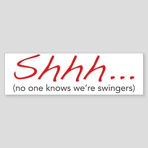 shhh Sticker (Bumper)