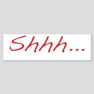 shhh_reverse Sticker (Bumper)