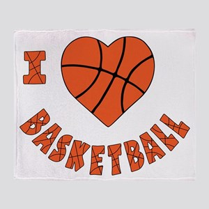 wh  orange, Love Basketball Throw Blanket