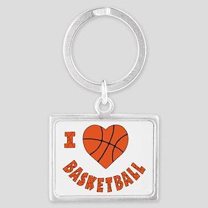 wh  orange, Love Basketball Landscape Keychain