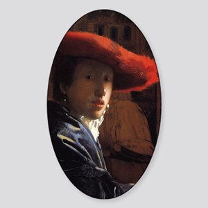 Girl with the Red Hat Sticker (Oval)