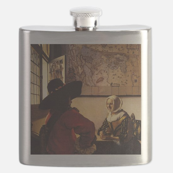 Officer and Laughing Girl Flask