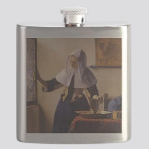 Young Woman with a Water Pitcher Flask