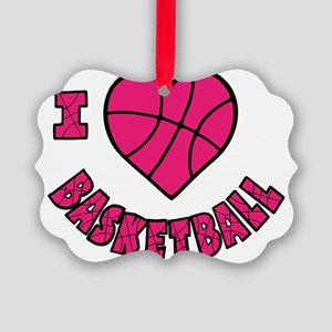 melon, Love Basketball Picture Ornament