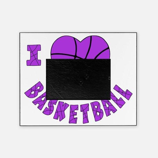 wh  lavendar, Love Basketball Picture Frame