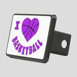 wh  lavendar, Love Basketb Rectangular Hitch Cover