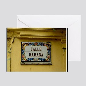 CUBACalleHabanaCanvasChazExt Greeting Card