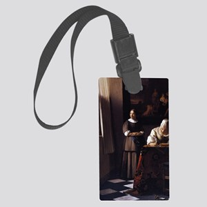Lady Writing a Letter Large Luggage Tag