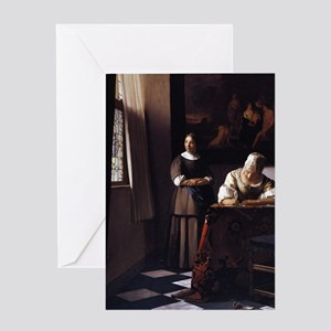 Lady Writing a Letter Greeting Card