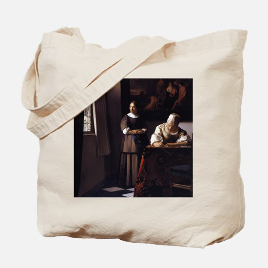 Lady Writing a Letter Tote Bag