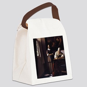 Lady Writing a Letter Canvas Lunch Bag