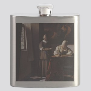 Lady Writing a Letter Flask