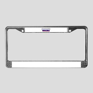 BARACK OBAMA!  License Plate Frame