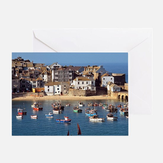 Ives. Small boats comprise the fleet Greeting Card