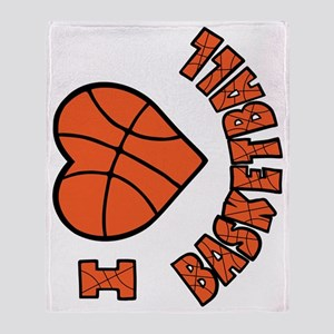 orang  bk sideways, Love Basketball Throw Blanket
