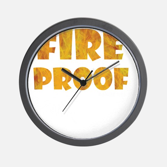 fire-proof-for-darks Wall Clock