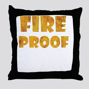 fire-proof-for-darks Throw Pillow