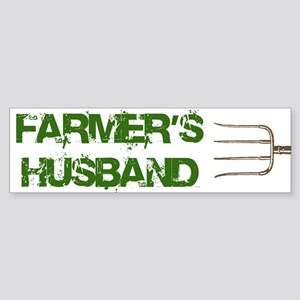 Farmer's Husband Bumper Sticker
